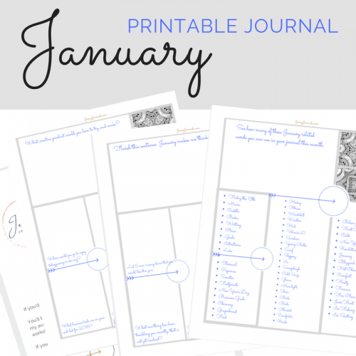 January printable journal from jennyjournals.com