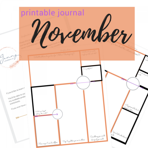 November printable journal from jennyjournals.com